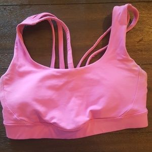 Pink lululemon sports bra